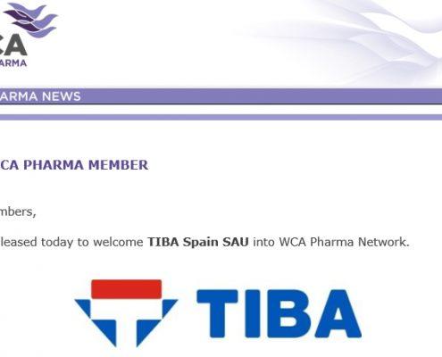 TIBA miembro de la WCA Pharma